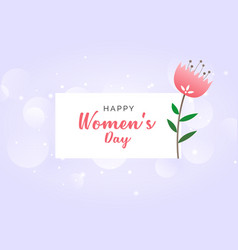 Womans day celebration wallpaper design background vector
