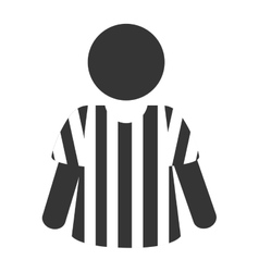 Icon referee football american vector