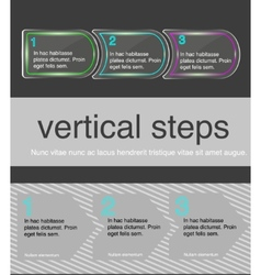 Horizontal steps vector