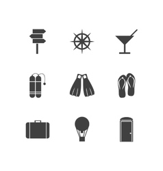 Black icons for leisure vector