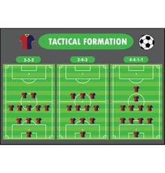 Soccer team formation vector
