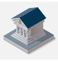 Bank building on white background vector