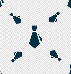 Tie icon sign seamless pattern with geometric vector