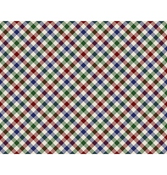 Colored checked diagonal fabric texture seamless vector