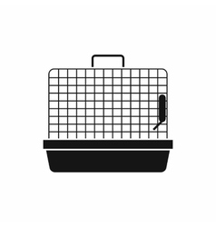 Cage for birds icon simple style vector