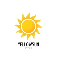 Sun icon sign Icon or logo design with yellow sun vector image