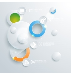 Abstract business geometrical design with paper vector