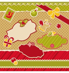 Abstract cute christmas design elements vector