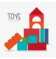 Blocks toy and game design vector image vector image