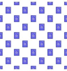 Blue passport pattern cartoon style vector