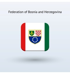 Bosnia and herzegovina flag icon vector