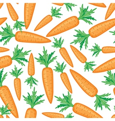 carrots pattern vector image vector image