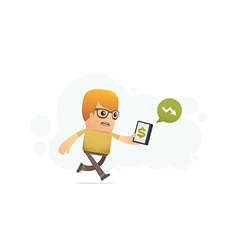 control of finances with smartphone vector image