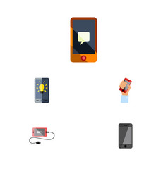 Flat icon touchscreen set of telephone screen vector