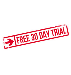 Free 30 day trial rubber stamp vector