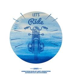 Hand Drawn Vintage Motor Bike vector image vector image