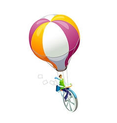 Icon hot air balloon vector