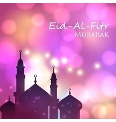 Invitation card for muslim festival eid al fitr vector