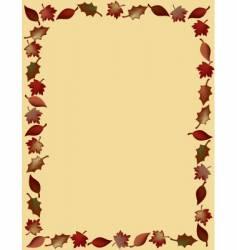 leaf border vector image vector image