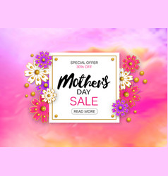 Mothers day sale background layout with beautiful vector