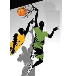 Playing basketball vector image vector image