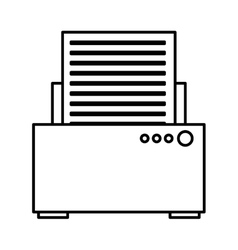 Printer device isolated icon vector