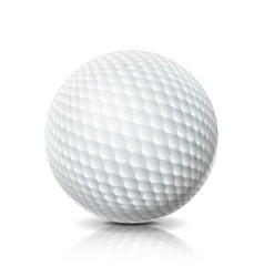 realistic golf ball isolated on white background vector image