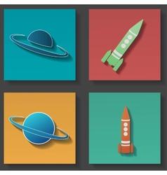 Rocket icon set vector