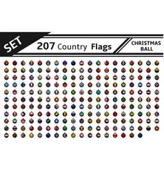 Set 207 country flag christmas ball vector