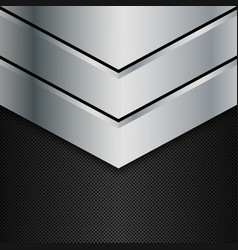 Silver and black metal background vector