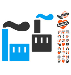 Smoking industry icon with love bonus vector