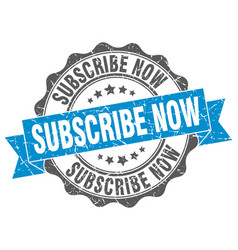 Subscribe now stamp sign seal vector