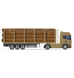 Truck semi trailer concept 09 vector