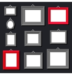 White Paper Frame Photo Picture Art Painting vector image vector image