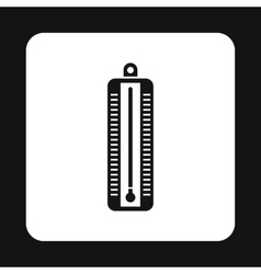 Thermometer indicates low temperature icon vector