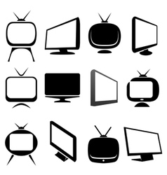 Tv icons and signs set vector