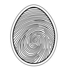 fingerprint image of a finger vector image