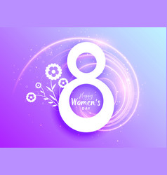 Happy womans day celebration greeting with flower vector