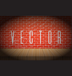 Old brick wall with wooden scene vignettes vector