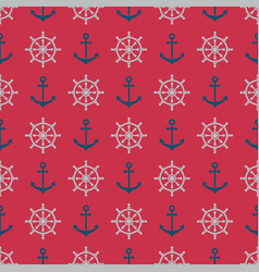 Anchorrudder pattern vector