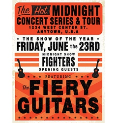 Vintage concert posters vector