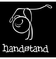 Handstand vector image