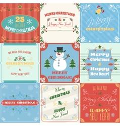 Christmas cards set vector image