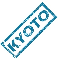 Kyoto rubber stamp vector