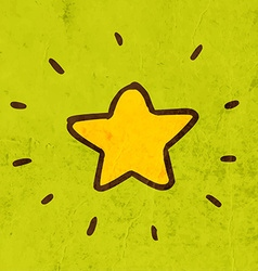 Bright star cartoon vector