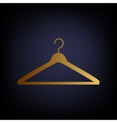 Hanger sign golden style icon vector