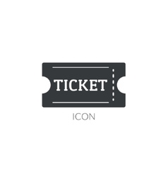 Theater movie ticket icon logo ticket vector