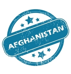 Afghanistan round stamp vector