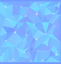 Beautiful blue abstract background of triangles vector