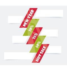 Big Sale Christmas Ball Sticker tags with Sale 20 vector image